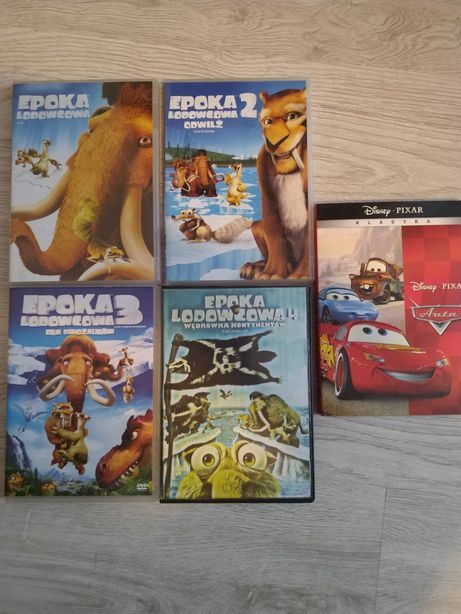 Filmy DVD epoka lodowcowa i auta