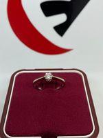 Złoty pierścionek z brylantem 0.17ct