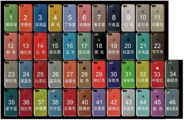 Чехлы оптом Silicone case iPhone 5/6/7/8/Plus/X/Xr/Xs/max/11/pro