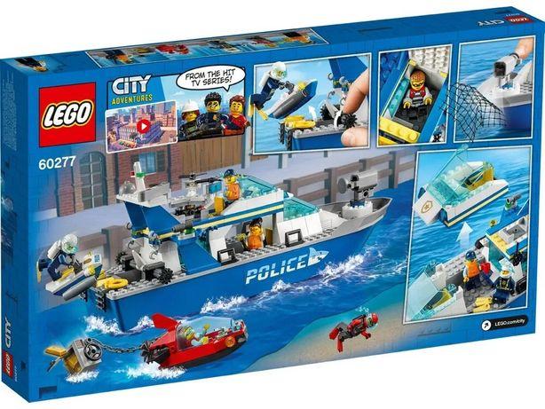 Конструктор НОВЫЙ Lego City Катер полицейского патруля.