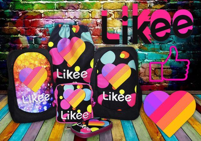 Набор рюкзак сумка принт Likee Video Box Лайки Видео купить для школы