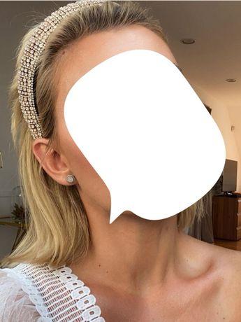 Nowa opaska do włosów cyrkonie Zara