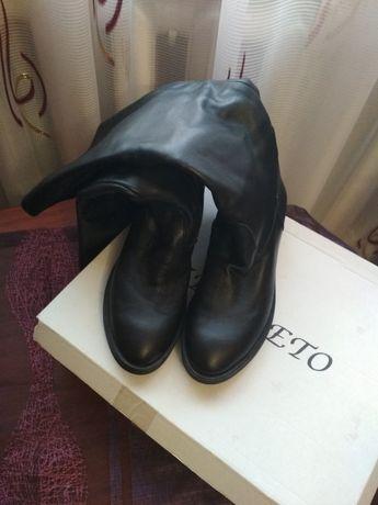 Жіночі чоботи шкіряні зимові