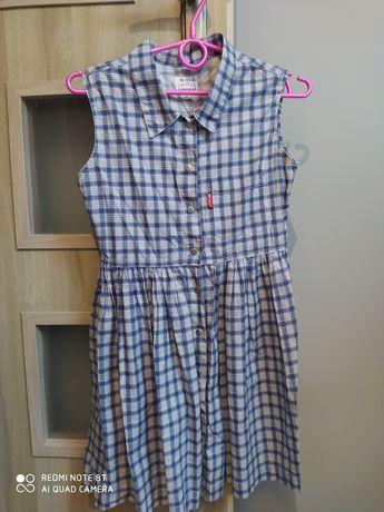 Sukienka w kratke rozm 146