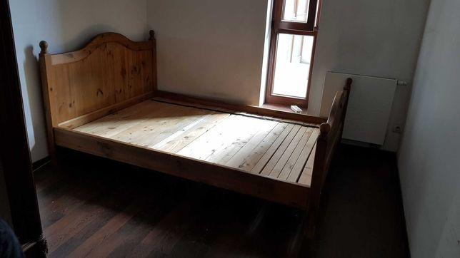 Podwójne łóżko drewniane lite drewno sosna