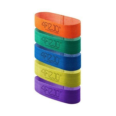 Zestaw 5 gum do ćwiczeń rehabilitacja flex band 4fizjo