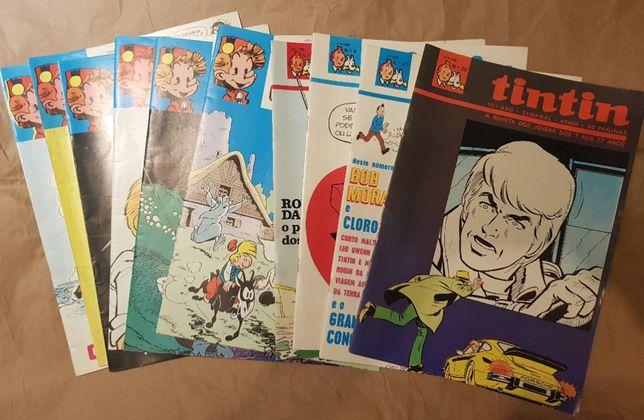 Revistas Banda Desenhada Tintin e Spirou