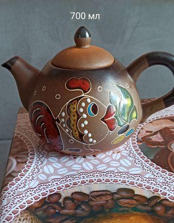 Чайник,заварник,красивый коричневый