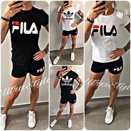 Zestaw damski tshirt koszulka krótkie spodenki Fila Adidas