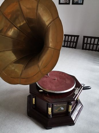 His Master's Voice gramofon replika