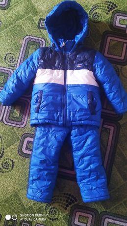 Зимний костюм комбинезон 1-3 г(98)+ шапка