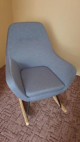 Fotel bujany NEBEL tkanina niebieski