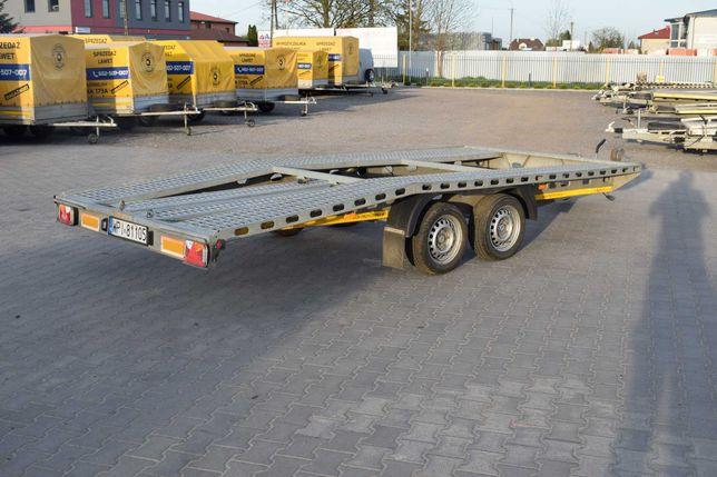 Laweta samochodowa Rydwan 460x205 koła 13 led dmc 2500 kg po serwisie