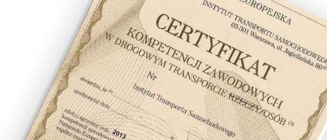 Użyczę certyfikat kompetencji przewóz osób - też Uber (3 auta w cenie)