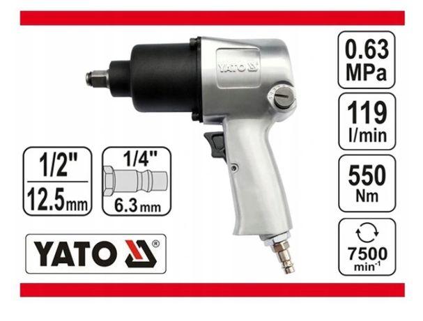 "Гайковерт пневматический ударный ключ 1/2"" YATO 550 Нм YT-09511"
