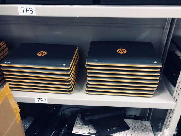 Черно оранжевые красавцы для серфинга в интрнете HP Chromebook 11