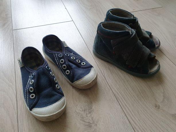 Buty tenisówki i sandały rozmiar 25