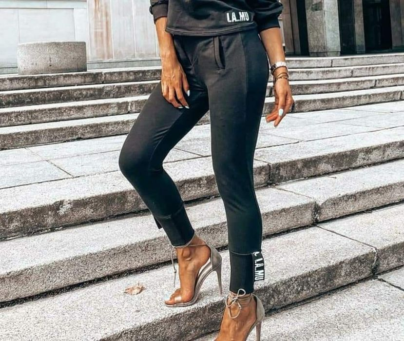 La mu piękne spodnie czarne s m l xl Rybnik - image 1