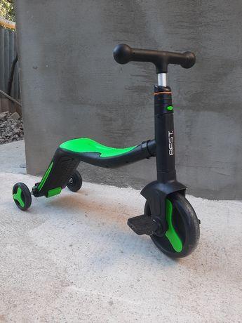 Самокат, велосипед, беговел - трансформируется 3 в 1