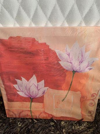 motyw kwiaty na sciane obraz