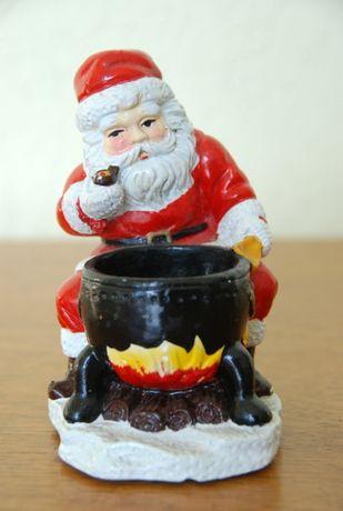 Figurka gipsowa świętego Mikołaja z poliresingu | święty Mikołaj