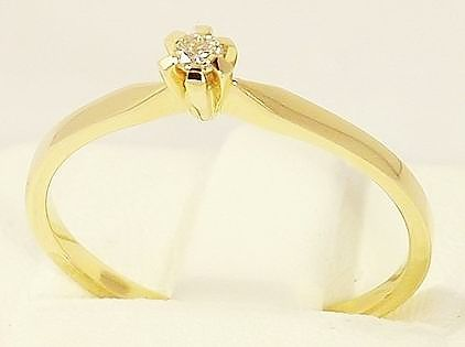 Pierścionek Złoty z Brylantem Zaręczynowy próba. 585