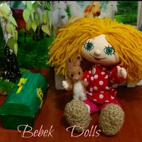 Интерьерная текстильная кукла Домовёнок Кузя ,ручная работа. 21 см