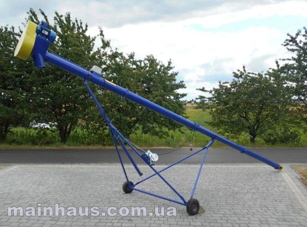 Зернометатель винтовой конвейер шнек для зерна 15т/час 6 метров 220В