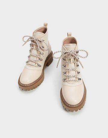 Женские ботинки хайкеры на шнуровке
