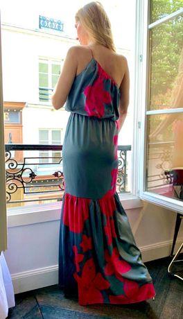 Jedwabna sukienka HALISTON HERITAGE