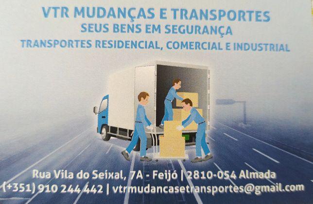 Serviços de transporte e montagem mobiliário