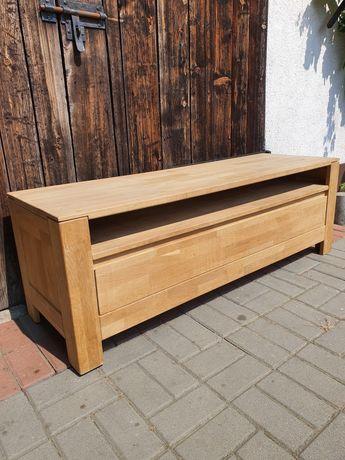 Dębowa szafka TV lub siedzisko do przedpokoju