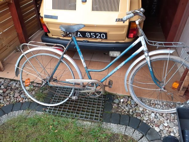 Rower Stary bagażnik Z przodu