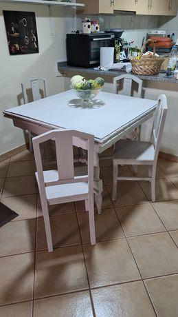 Mesa de sala e 5 cadeiras