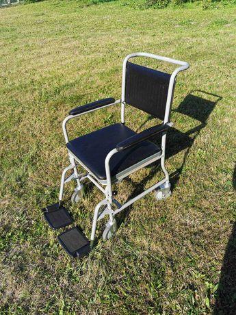 Wózek toaletowy, inwalidzki, krzesło na kółkach, WC dla chorych