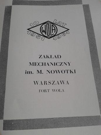 Pamiątki dotyczące Zakładów Mechanicznych im.Nowotko w Warszawie
