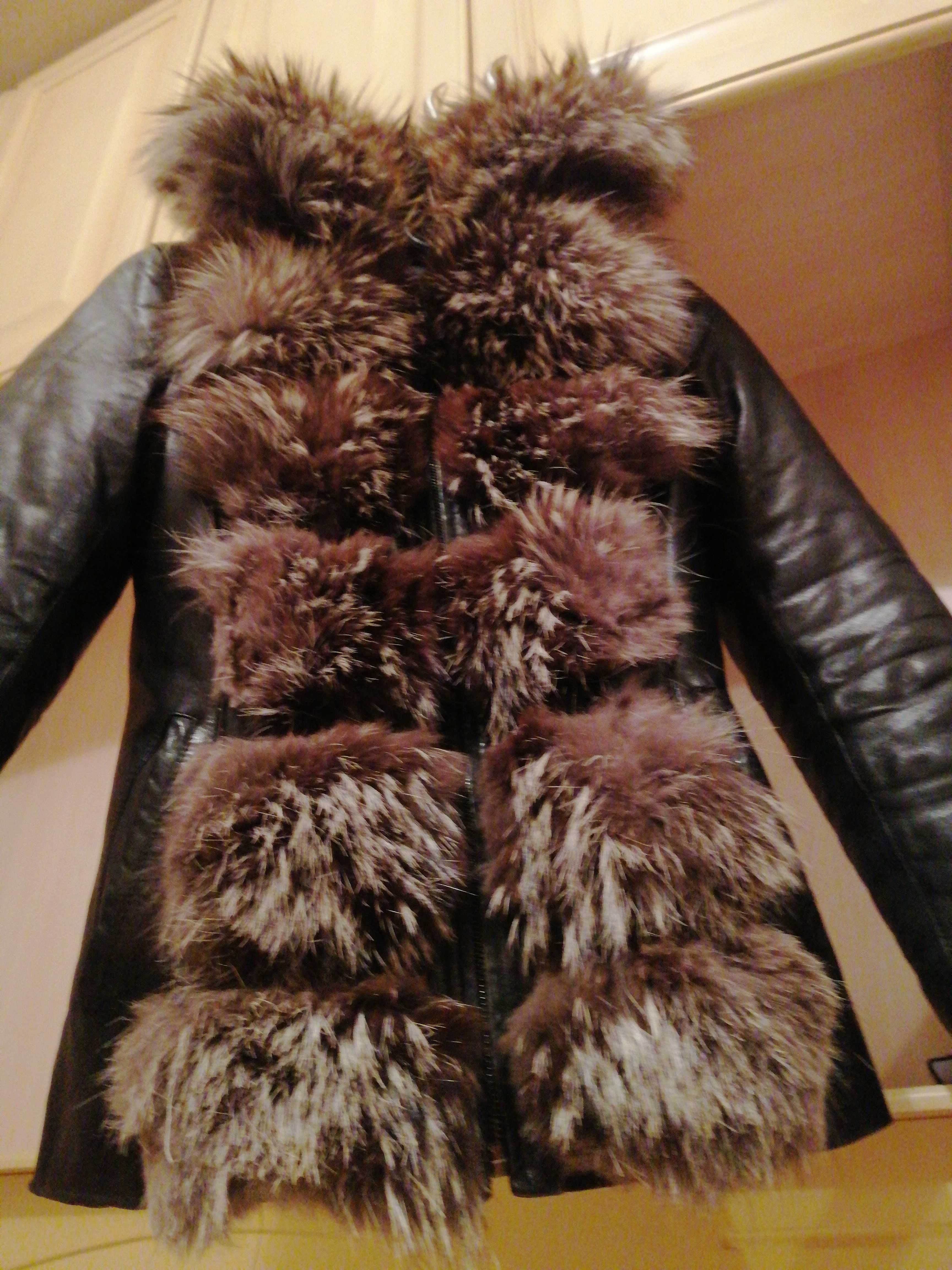 2 куртки. Зима. Транформер. Натуральная кожа. Куртка. Желётка.