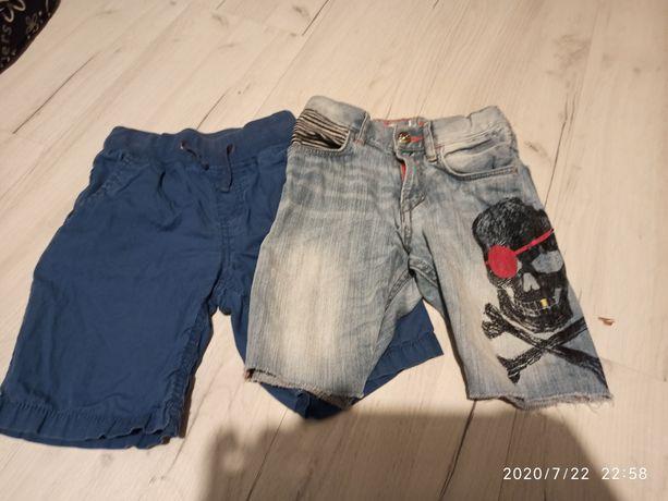 Szorty, spodenki rozmiar 104, jeansy, H&M