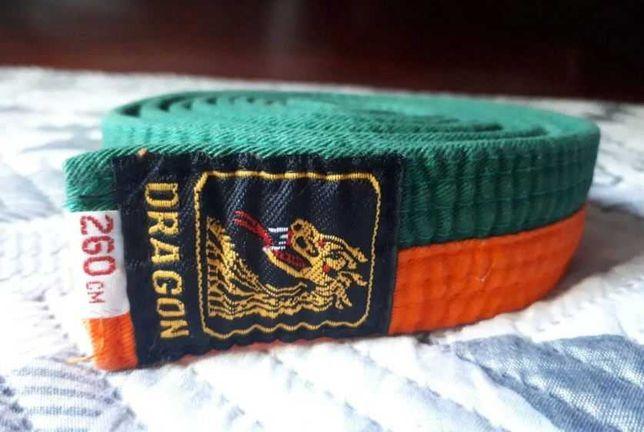 Cinto Laranja / Verde p/ Artes Marciais, Dragon