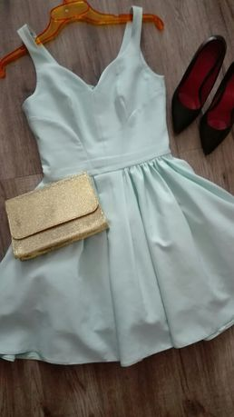 Błękitna sukienka r. 36