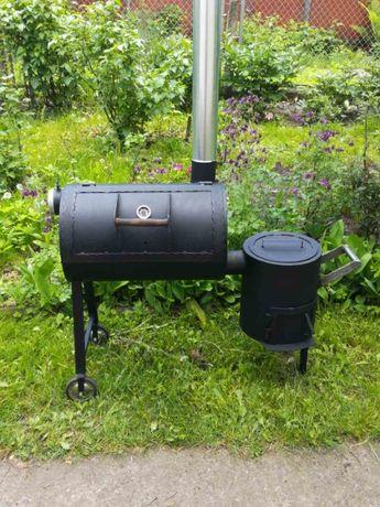 Смокер + печка: копчение, казан, сковорода, гриль, мангал