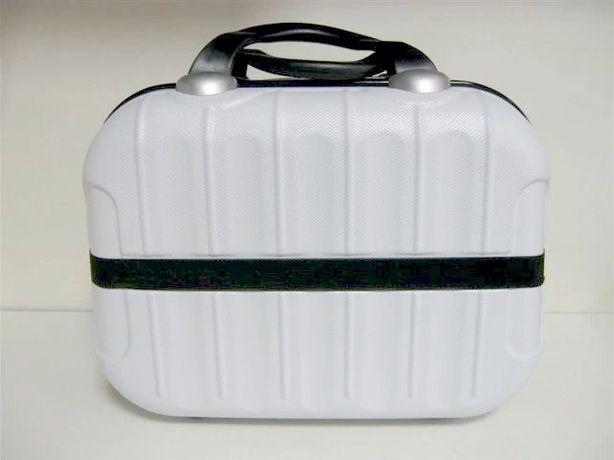 Kosmetyczka Podróżna Torba Organizer Kuferek Biały