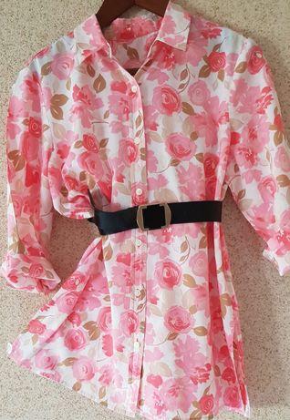 Sukienka bluzka tunika zwiewna flower kwiatowa wyjściowa