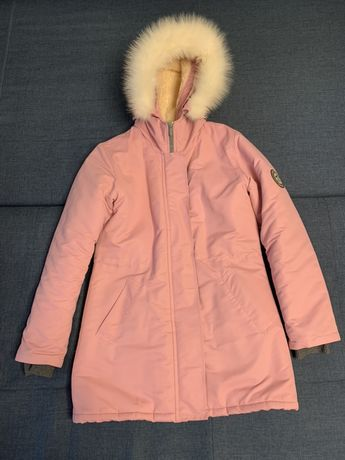 Пуховик парка зимняя украинский бренд Dasti me розового цвета