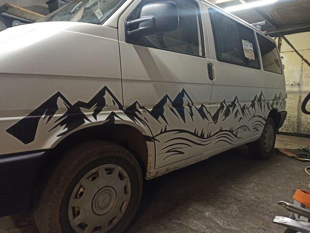 Szablony góry t4 t5 bus van camper