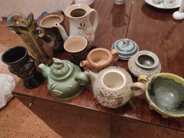 Набор чайники,вазы