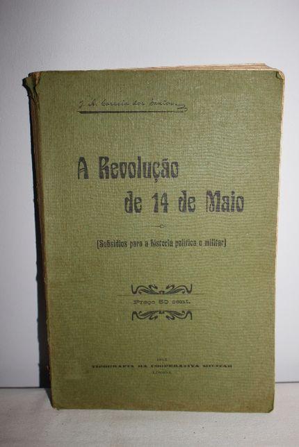 Livro Antigo-1915-A Revolução 14 Maio-Historia Política Militar