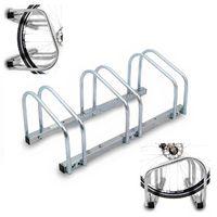 Stojak na rowery 3 stanowiska - montaż pionowy lub poziomy