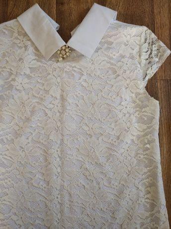 Очень красивая нарядная блузка, футболка, кофточка 134 р