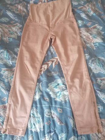 Spodnie ciążowe kolor łososiowy